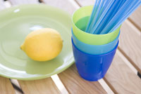 レモンと食器