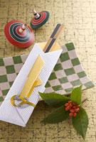 祝い箸と皿