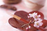 桜の花と串