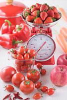 赤い青果集合イメージ