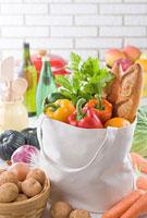 食品とエコバックイメージ