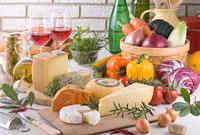 チーズと食品集合イメージ