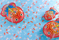 金魚のブリキ玩具