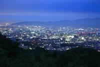 将軍塚から京都市街の夜景