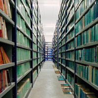 Books in an archive