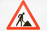 Roadworks sign 11015178702| 写真素材・ストックフォト・画像・イラスト素材|アマナイメージズ