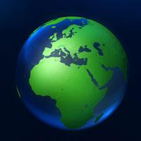 Computer generated globe