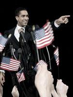 Politician and supporters 11015185836| 写真素材・ストックフォト・画像・イラスト素材|アマナイメージズ