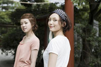 Young women at shrine
