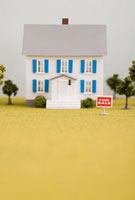 Model of house for sale