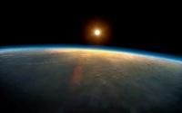 Sunrise over planet earth 11015205342| 写真素材・ストックフォト・画像・イラスト素材|アマナイメージズ