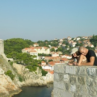 Young couple sightseeing in Dubrovnik, Croatia