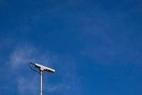 Surveillance camera and blue sky