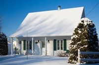House exterior in snow