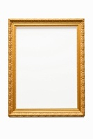 Empty gold frame