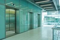 Elevators in empty office block