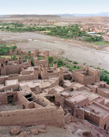 Ait Benhaddou built on hillside
