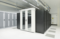 Doorway and lockers in server room