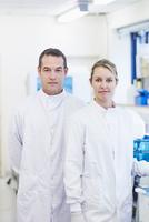 Portrait of researcher in laboratory