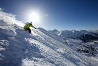 Man skiing off piste in Kuhtai ,Tirol, Austria