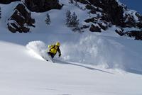 Man skiing in Kuhtai, Tyrol, Austria