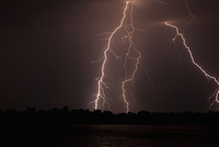Storm over Zambezi River