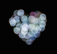 Valentines abstract heart-shaped lights