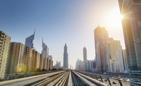 Downtown Dubai Metro rails, United Arab Emirates