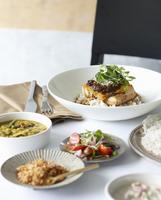 Sri Lankan fish curry meal