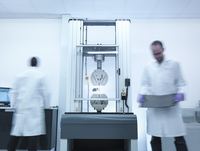 Scientists test tensile strength of carbon fibre in carbon fibre laboratory