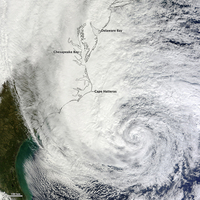 Hurricane Sandy, October 30 2012. NASA Earth Observatory image by Jesse Allen, using VIIRS Day-Night Band data from the Suomi Na 11015256923| 写真素材・ストックフォト・画像・イラスト素材|アマナイメージズ