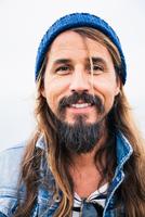 Mid adult man with beard wearing hat, portrait