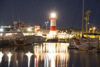 Lighthouse and dock, California, USA