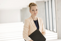 Portrait of  businesswoman in empty new office