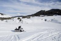 Man on snowmobile, Jackson Hole, Wyoming