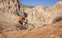 Mountain biker, Las Vegas, Nevada, USA