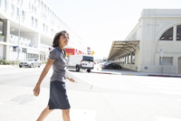 Young businesswoman, walking, outdoors