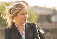 Businesswoman in ponytail