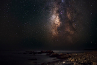 The milky way above ocean, Crete, Greece