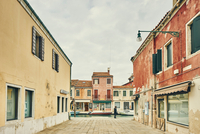 Traditional houses and cobbles, Murano, Venice, Italy