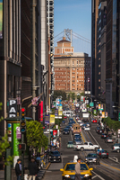 Cityscape with busy traffic, San Francisco, California, USA