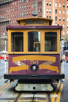 Front view of traditional tram, San Francisco, California, USA