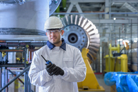 Portrait of apprentice in gas-fired power station