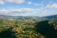 High angle view of Cilento National Park from Castellabate, Campania, Italy