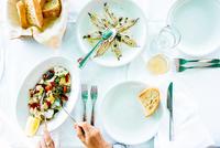 Fish lunch at Cilento coast beach bar, Italy 11015286909| 写真素材・ストックフォト・画像・イラスト素材|アマナイメージズ