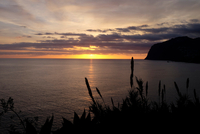 Sunset over ocean, Madeira, Funchal, Portugal