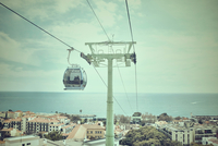 Cable car by ocean, Madeira, Funchal, Portugal