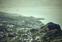 Elevated view of coastline, Madeira, Funchal, Portugal