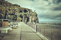 Promenade and cliffs, Madeira, Ribeira Brava, Portugal