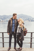 Romantic young couple at Lake Como, Italy